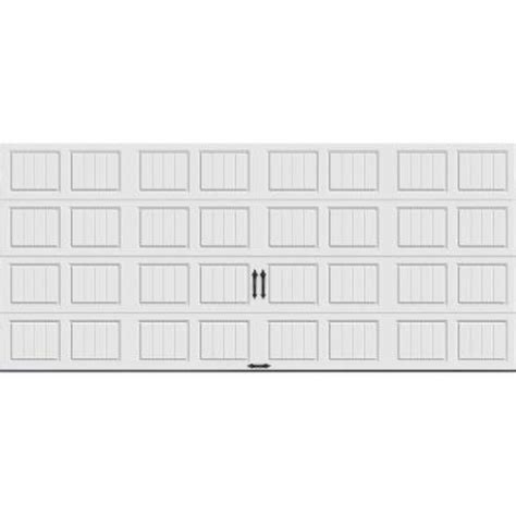 16 x 9 insulated garage door clopay gallery collection 16 ft x 7 ft 6 5 r value
