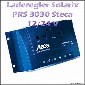 Solar Inselanlage Berechnen : steca solar laderegler 12v 24v 30a solarix prs 3030 pwm ~ Themetempest.com Abrechnung