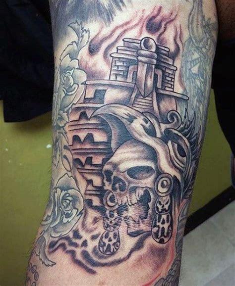 Aztec Skulls Tattoos Designs