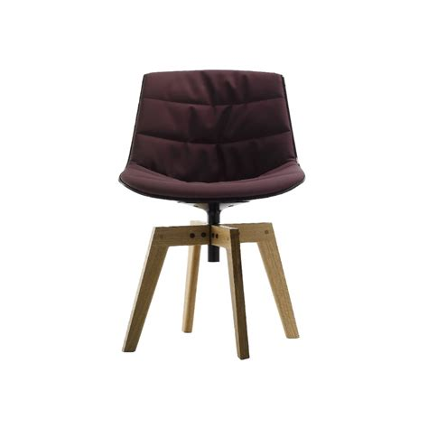 chaise rembourr e chaise rembourré mdf italia flow chair 4 gambe rovere