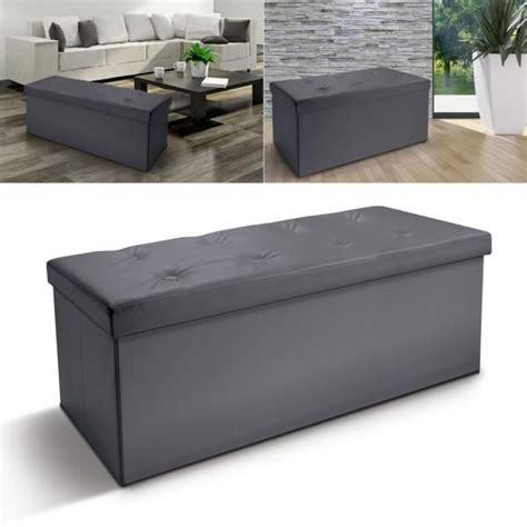 petit banc coffre de rangement banc coffre rangement pliable gris gm 100x38x38 cm achat vente banc coffre rangement pliab