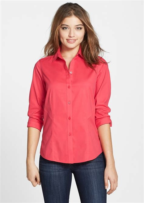 foxcroft blouses no iron no iron stretch blouses blouse