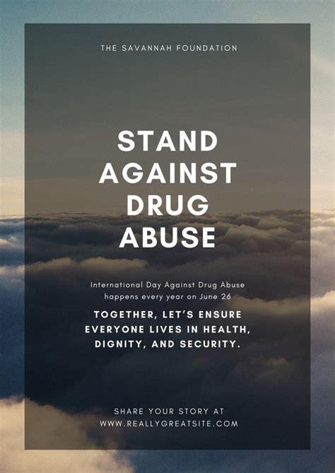 printable custom drug awareness poster templates canva
