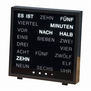 Uhr Mit Worten : wort uhr g nstig bei eurotops bestellen ~ A.2002-acura-tl-radio.info Haus und Dekorationen