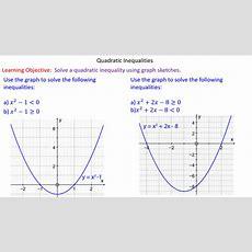 Quadratic Inequalities Mrmathematicscom