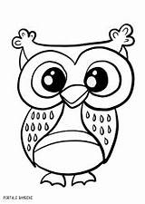 Owl Coloring Pages sketch template