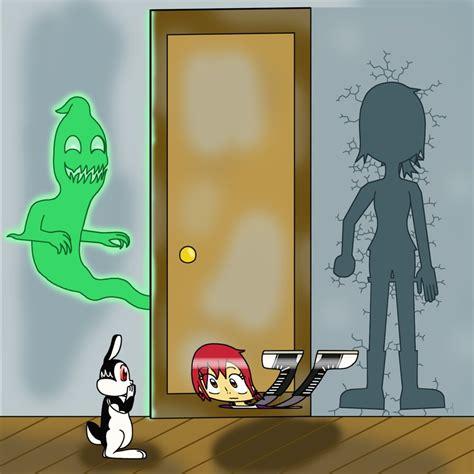 bunnicula mina flattened  ghost door