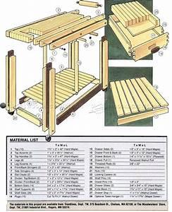 Kitchen Work Table Plans • WoodArchivist