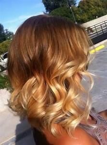 Ombré Hair Cuivré : 30 ombr hair sur cheveux courts tendance 2015 coiffure ~ Melissatoandfro.com Idées de Décoration
