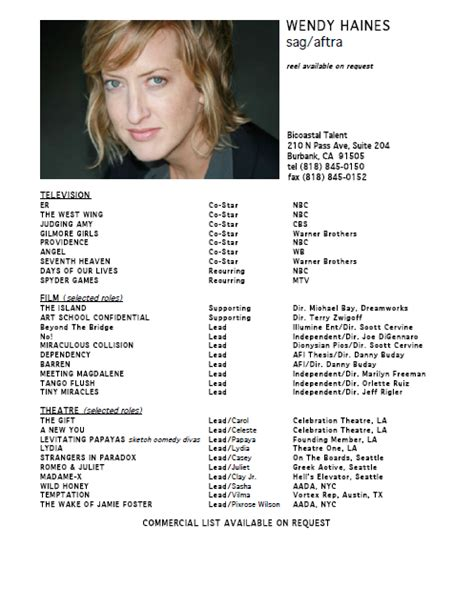 32 acting resumes of and wannabes