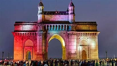 India Mumbai Gate Gateway Wallpapers Night Architecture