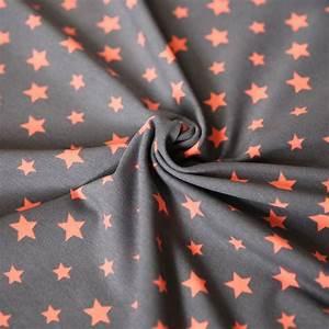 Stoff Auf Stoff Nähen : jersey stoff sterne stars orange auf dkl grau stern jetzt ~ Lizthompson.info Haus und Dekorationen