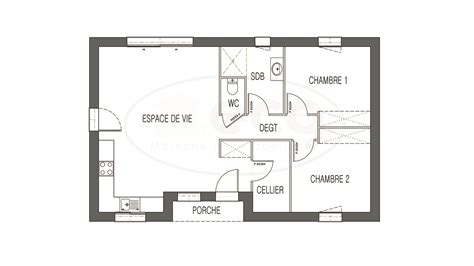plans maison deux chambres maison moderne