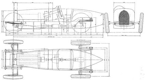 CAR blueprints - Bugatti Type 59 blueprints, vector ...