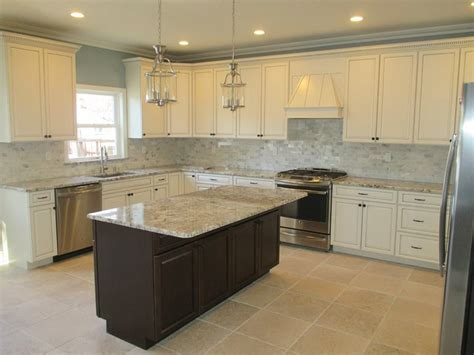 kitchen cabinets with floors white cabinets espresso island alaska white 9535