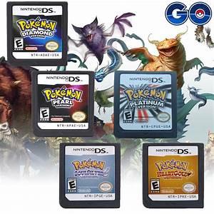 Lite Pokemon Game Card Soul Silver Heart Gold For Nintendo