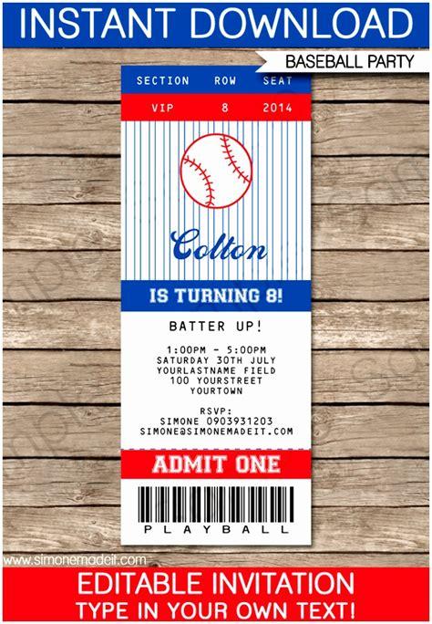 ticket invitation template 10 baseball ticket invitation template free ewatc templatesz234