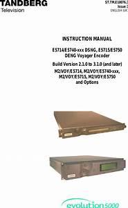 Tandberg E5714 Users Manual Evolution 5000 E57xx Dsng And