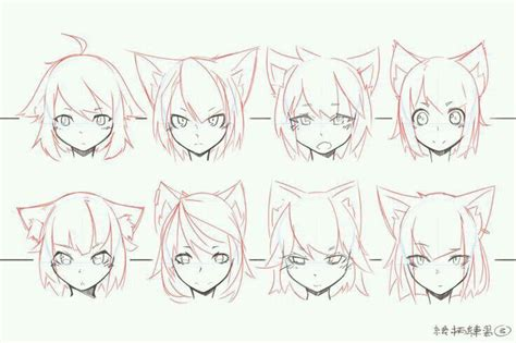 cat ears outline drawing   manga drawing anime