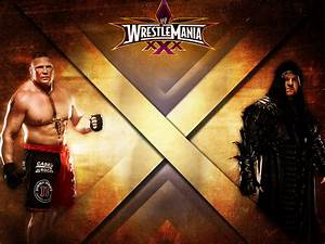 Brock Lesnar vs. Undertaker - WrestleMania 30 by ...