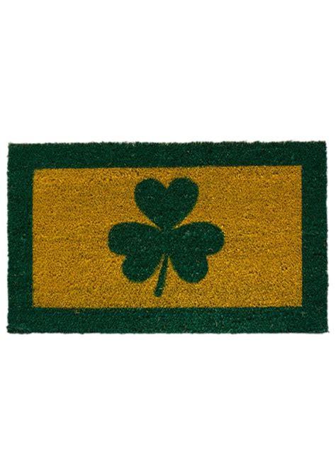 cead mile failte doormat shamrock welcome mat blarney