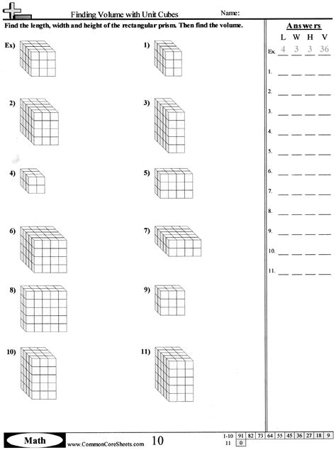 13 best images of volume worksheets 5th grade cube