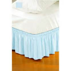 dainty home solid ruffle bed skirt walmart com