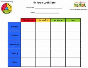 blank school lunch menu template templates resume With blank daycare menu template