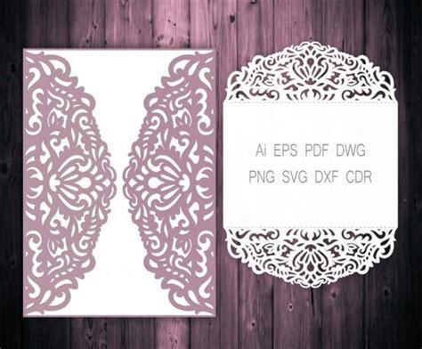 gate fold wedding invitation laser cut card template