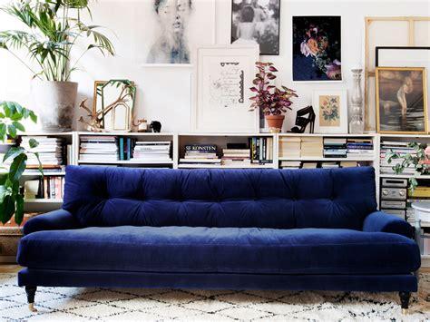 Tufted Velvet Sofa Blue by Velvet Sofas Centsational