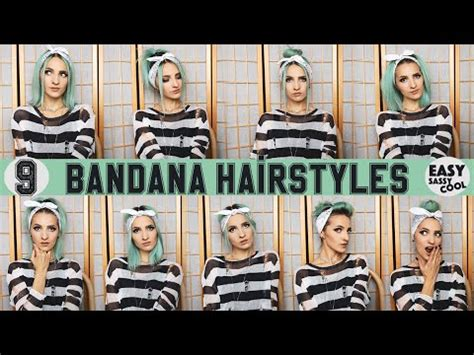 how to style hair with a bandana 9 easy bandana hairstyles by vintageena 7071