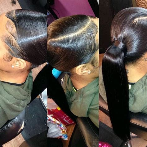 Sew In Ponytail Hairstyles by Jazisweets Weave Make Believe Weave Ponytail