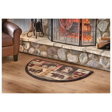 resistant fireplace hearth rugs mohawk lodge hearth rug 233354 rugs at sportsman 39 s guide