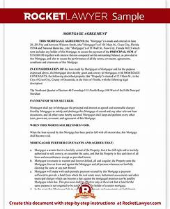 mortgage agreement template mortgage lien form with sample With legal documents for home loan