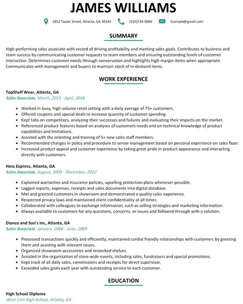 retail sales associate resume sample  faqs answered