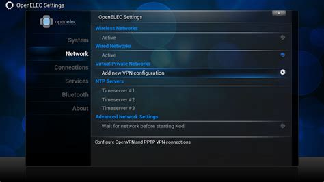 openelec pptp setup on raspberry pi 2 my network