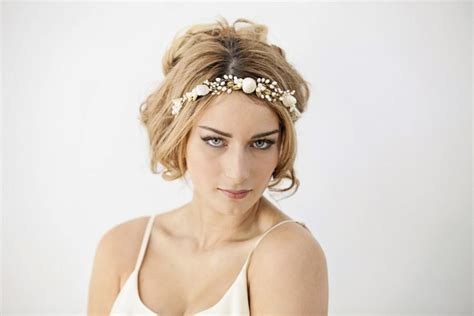 Mermaid Wedding Headband, Beach Bride <a href=