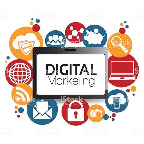 digital market illustration graphic vector digital marketing stock vector