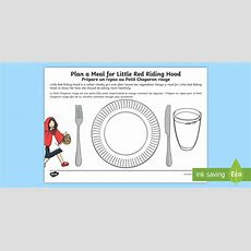 * New * Ks1 British Food Fortnight Design A Meal For Little Red