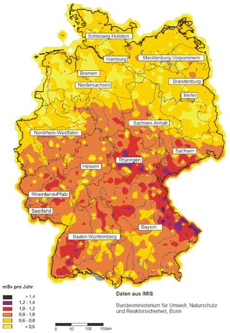 Radioaktive Belastung Deutschland Karte