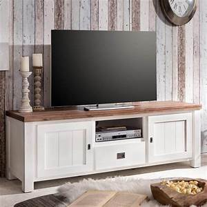 Tv Lowboard Landhausstil : enorm tv lowboard massivholz tv landhausstil weiss 168 cm ~ Michelbontemps.com Haus und Dekorationen