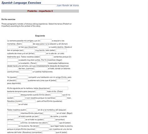 13 Online Exercises To Practice The Preterite Vs Imperfect In Spanish