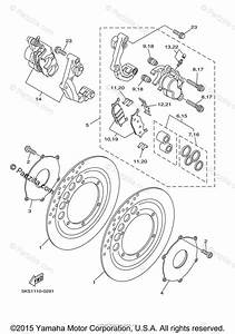 Yamaha Motorcycle 2001 Oem Parts Diagram For Front Brake