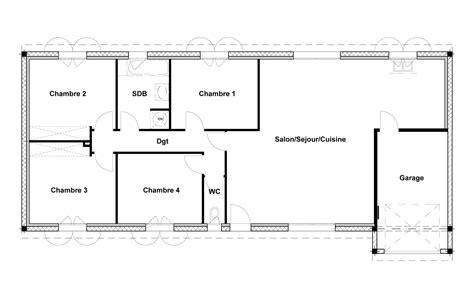 plan maison 100m2 4 chambres plan de maison 100m2 gratuit