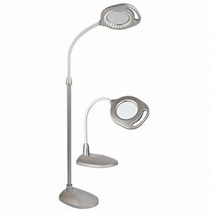ottlite 2 in 1 led magnifier floor and table light With bios led floor lamp and magnifier
