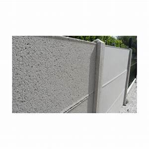 Mur En Béton : cl ture mur plein en plaques de b ton avec ou sans chaperon ~ Melissatoandfro.com Idées de Décoration