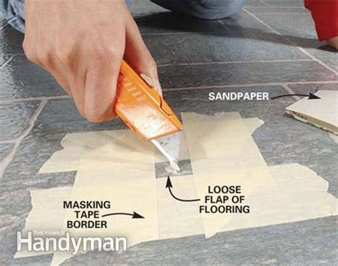 linoleum flooring repair kit repairing vinyl flooring the family handyman