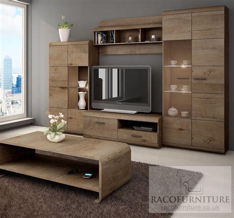 "Tv Wall Unit ""lena"" Set Of Living Room Furniture 4 Piece"