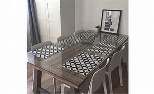 Set De Table Carreau De Ciment : diy d co 4 id es cr atives avec un sol vinyle saint maclou saint maclou ~ Teatrodelosmanantiales.com Idées de Décoration