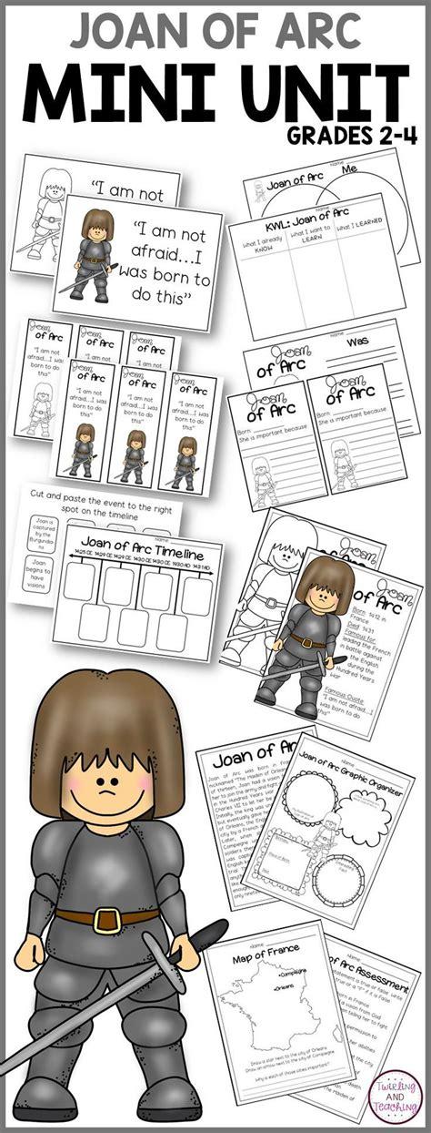 joan of arc biography pack s history activities 112   d4a2f8920af18c2433c4cec8c987d975